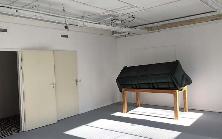 Picture 1 of the new Mr. Upside art studio, still empty in building Sector V in Leidschendam, the Netherlands.
