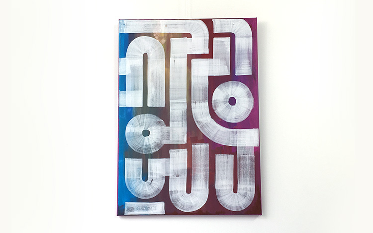 Abstract artwork 'Field Portrait' by Dutch urban artist Mr. Upside / Michiel Nagtegaal is sold