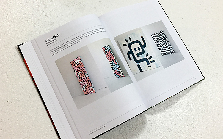 Dutch artist Mr. Upside / Michiel Nagtegaal is featured in the Global Art Agency publication 'Book of Excellence Vol III' with a double page and four images of the abstract paintings