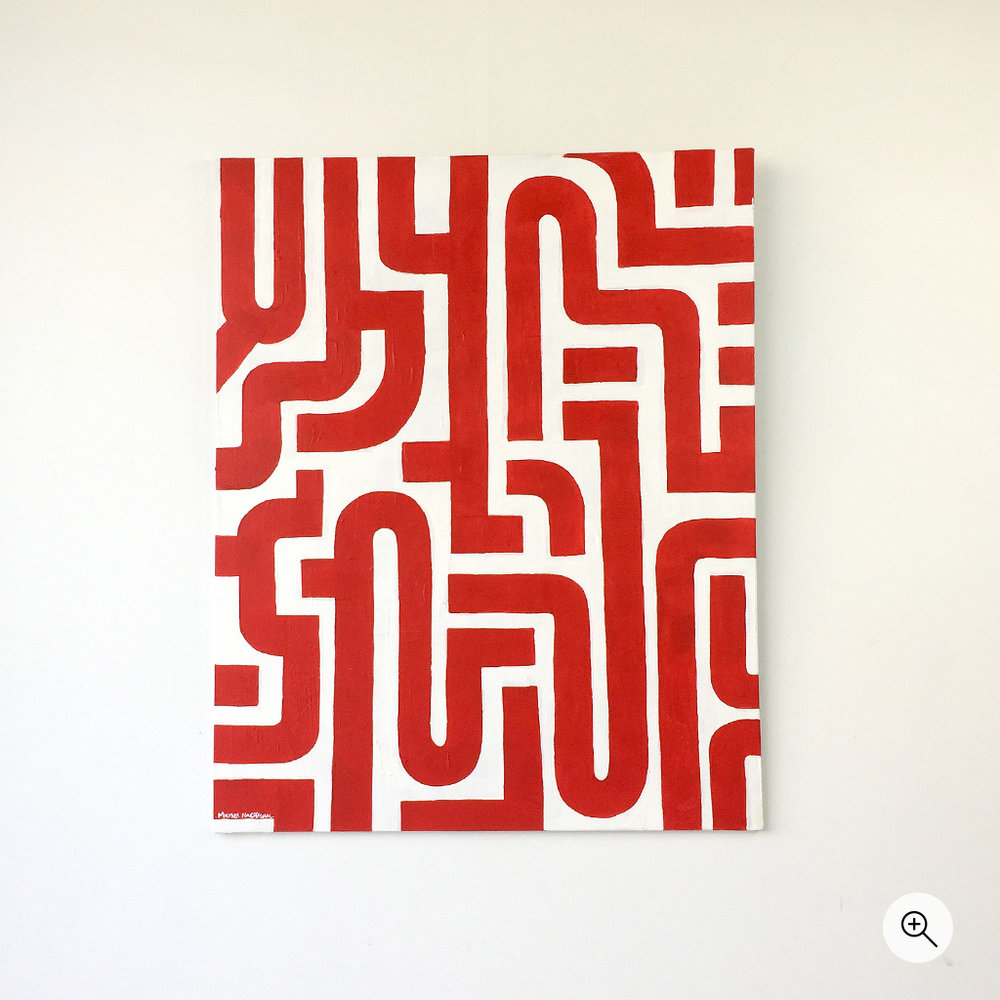 Picture 1/7 of artwork 'Blood Lines', a front view of a painting on canvas by Dutch contemporary urban artist Michiel Nagtegaal