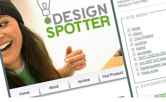 Designspotter - One of the places for design with the widest spread online network.