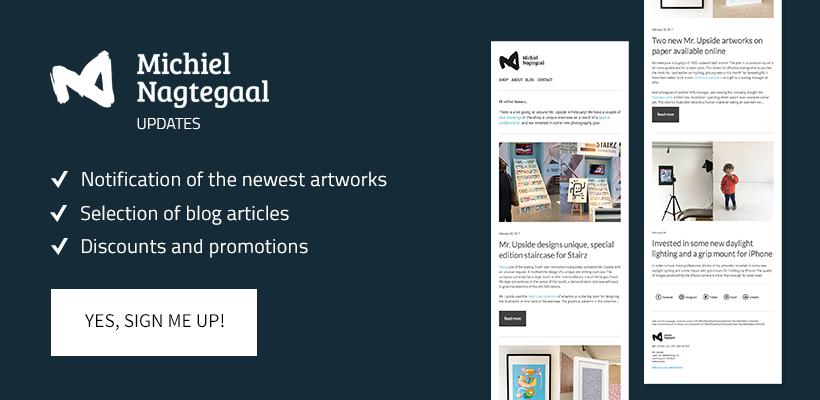 Meld je aan bij de kunst nieuwsbrief van kunstenaar Michiel Nagtegaal