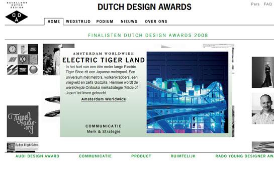 Nederlandse Design Prijzen wordt Dutch Design Awards 2008