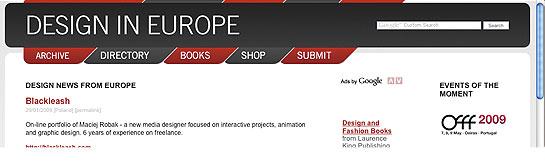 Design in Europe