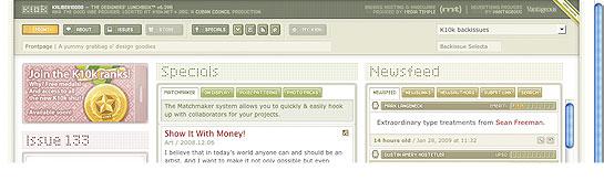 K10k.net - Uitgebreide site met de ronkende subtitel 'The Designers Lunchbox'. Fantastisch!