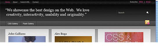 Websitedesignawards.com - Blijkbaar staan hier zoveel goede links op dat er geen ruimte meer was voor een logo