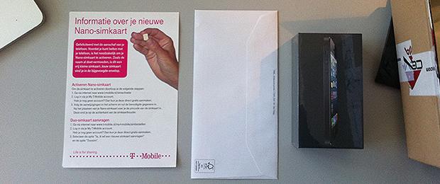 iPhone 5 is afgeleverd – T-Mobile deed het netjes
