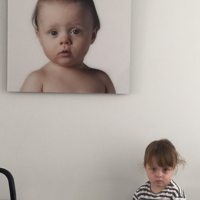 Time flies: picture of my daughter Zoë besides a photo of her when she was one