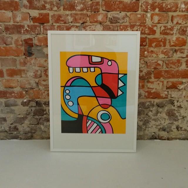 Finished and framed artwork 'Monsters'