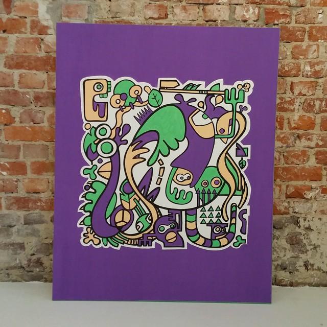 Artwork 'Jungle' by Dutch artist Mr. Upside finished!