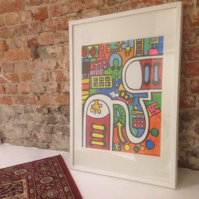 Artwork 'City Colors 1' framed and ready for sale