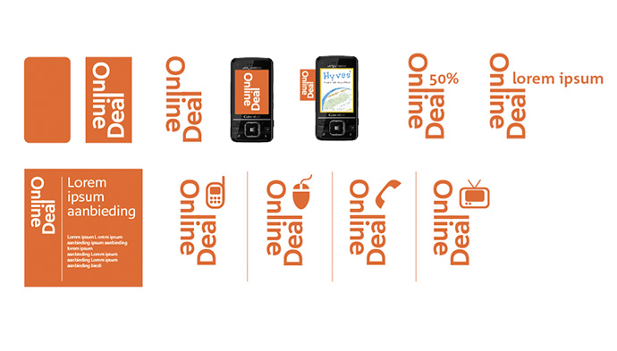 Picture 11 of 12  - Design for an 'Online Deal'-flag / label on the product presentation of mobile phones.