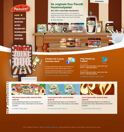 Duo Penotti - Re-design promotional website for chocolate spread ...