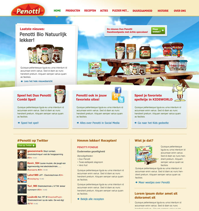 Picture 3 of 3  - Alternative Promotional Homepage with different functionalities incorporated