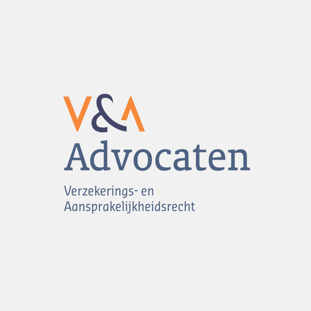 The logo of V&A Advocaten is an example of a lettermark, where the characters form unique shapes.