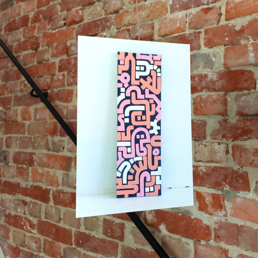 Luxe Medium Postcard with artwork 'Bold Pink' printed on super heavy paper by Moo Cards. Artwork by Dutch contemporary urban artist Michiel Nagtegaal / Mr. Upside