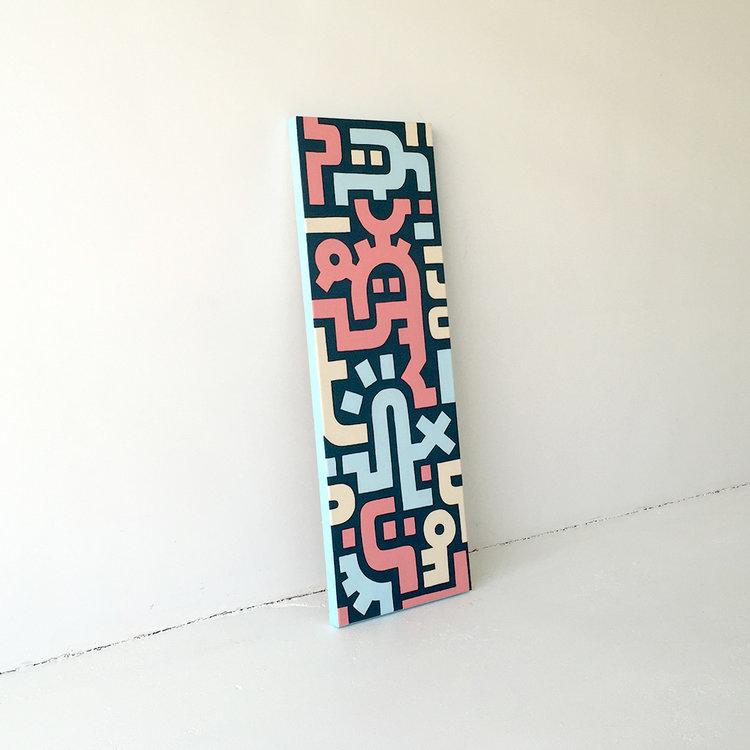 Receiving inspiration | painting by Dutch urban artist Mr  Upside