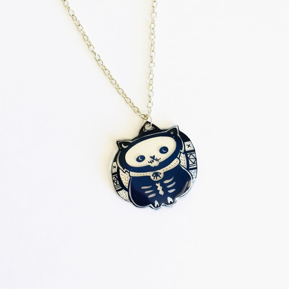 MYSTIC SKELETON CAT NECKLACE