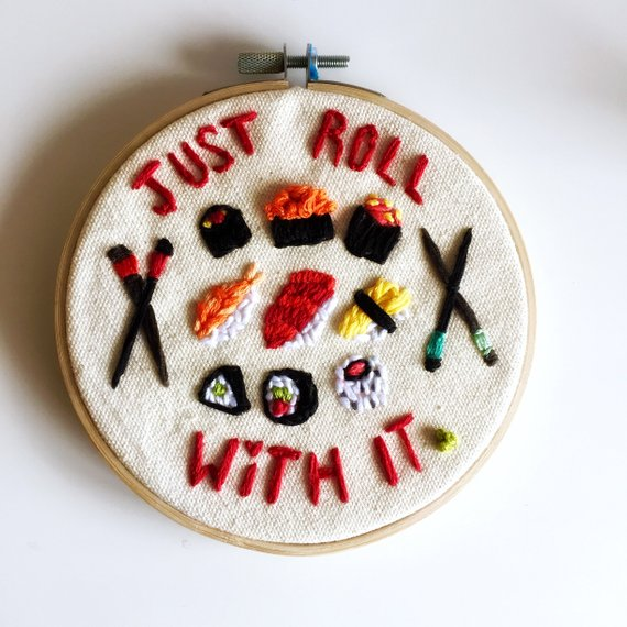 JUST ROLL WITH IT SUSHI ART
