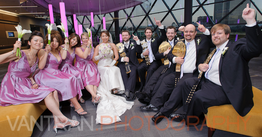 bridal party congress centre wedding