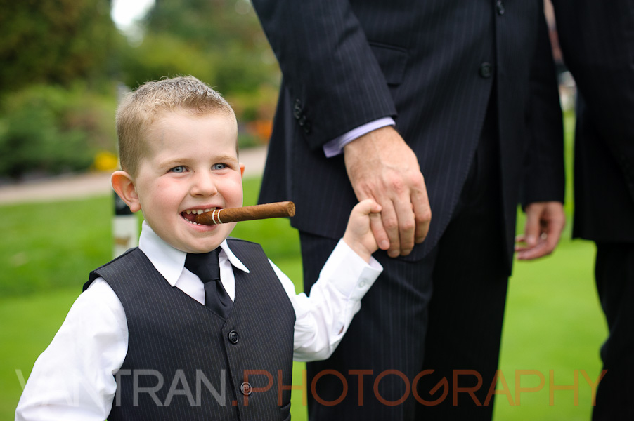 ring boy cigar wedding ottawa
