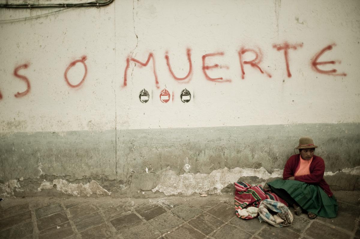lima, peru, muerte, woman, street, wall