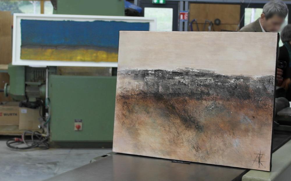 Un tableau de Céline Favarel et un tableau d'Audrey Roccarro...