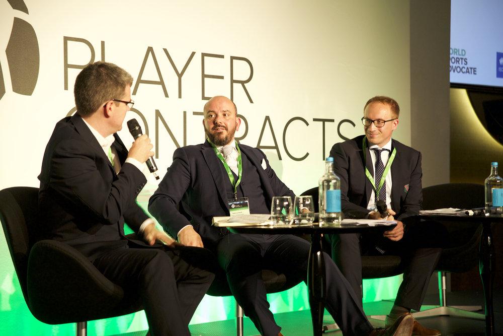 Jake Cohen (Mills & Reeve), Paolo Lombardi and Jakub Laskowski (Legia Warszawa Football Club).