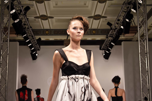 b730c33f3b1 Models from the far east caress the backdrop of the runway in a sensual  white light atmospheric fashion film. Their movements heavy