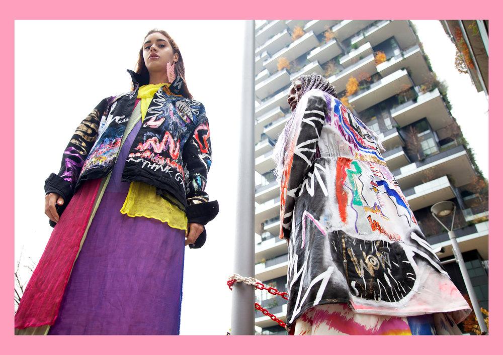 FS 2 GLOBELLE Girls in handpainted jackets by Nelly Rose in Milan .jpg
