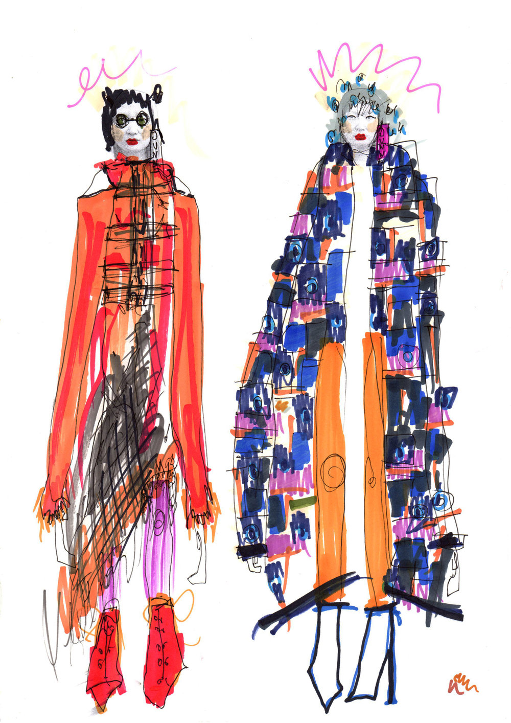 Fashion Scout AW19 Illustrated by Elyse Blackshaw