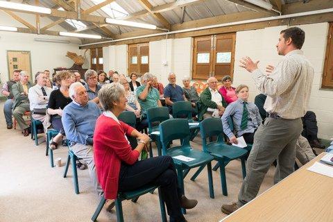 Tom Davis of Mudchute City Farm addressing Southdown members & friends