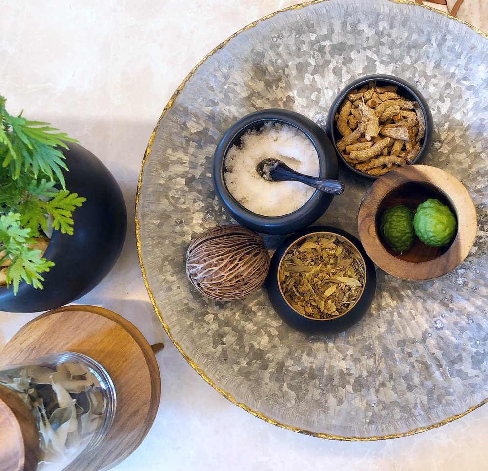 Experiences are customized including both treatments and products using local herbs and spices
