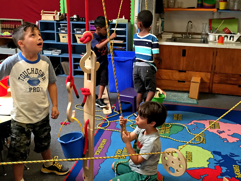 Experimental pulley system