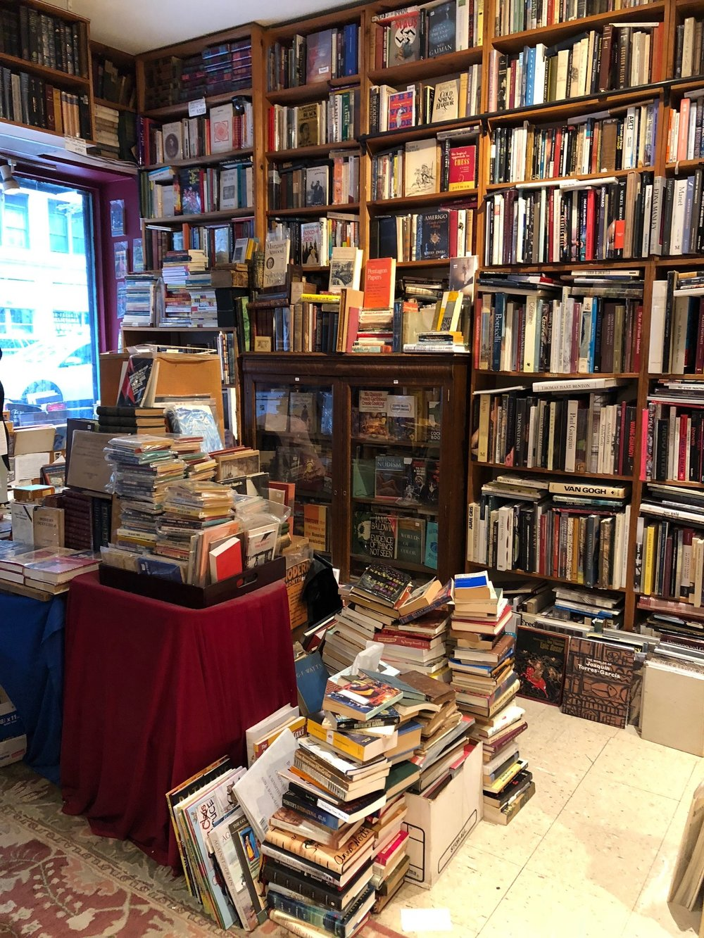 Alabaster Bookshop. The last bookshop remaining on what was once Book Row on 4th Ave between Astor Place and Union Square. Book Row used to house 48 different bookstores!