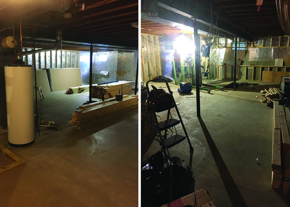 A few before photos of the unfinished space.