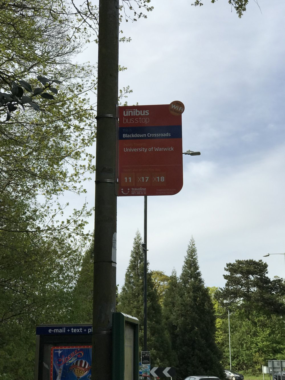 Get off at this bus stop