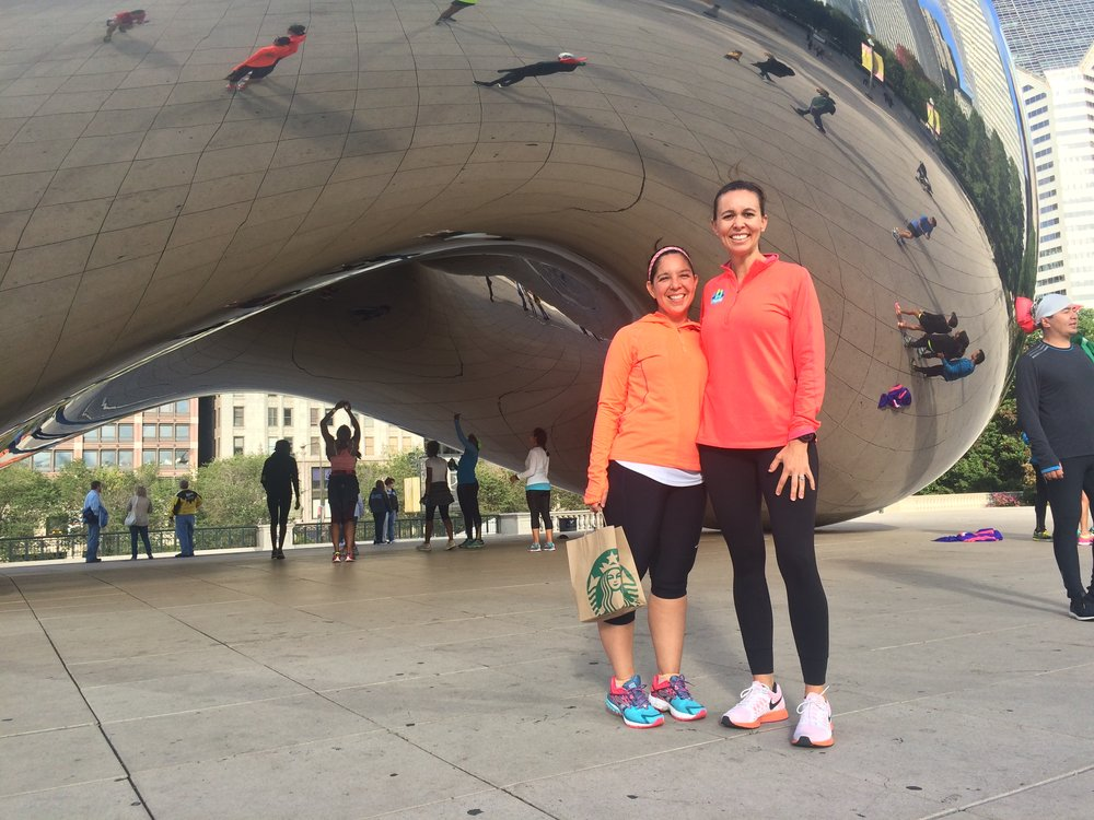 Brenda and laura, chicago marathon 2015