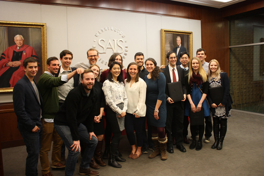 December 2017 graduates of the Hopkins-Nanjing Center Certificate/Johns Hopkins SAIS MA program