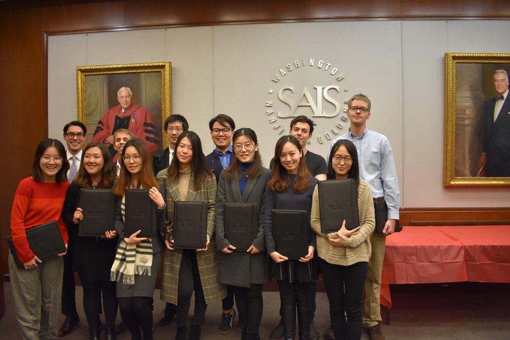 December 2018 graduates of the SAIS-Tsinghua Dual Degree Program in Global Politics and Economics