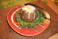 Meatloaf with quail egg