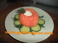 Salmon and avocado terrine
