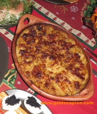 This potato gratin is not only a treat for the eyes but delicious too!