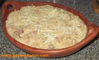 Potato gratin with bacon: last step
