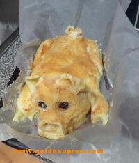 Mashed Potato Pig Roll Recipe / goldenapron.com