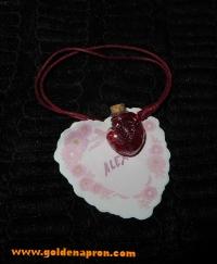 St Valentine keepsake or name place holder