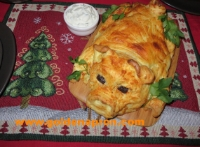 Mashed Potato Pig Roulade/Bake