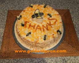 Honeycomb Cake Recipe with Apricots