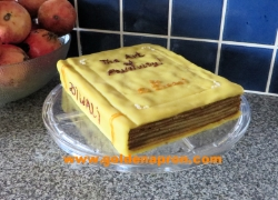 Book Cake Baumkuchen Layered Pumpkin Pie Gingerbread Kueh Lapis Recipe