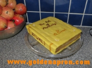 Pumpkin Book Cake